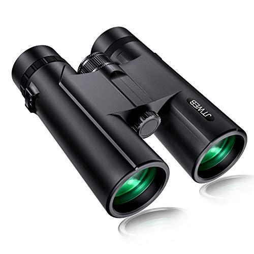Fernglas 12x42 Ferngläser HD Kompakt Wasserdicht Feldstecher für Erwachsene und Kinder mit BAK4-Prismen und FMC-Linse inkl.Tragetasche,Tragegurt für Vogelbeobachtung,Wandern,Jagd,Sightseeing