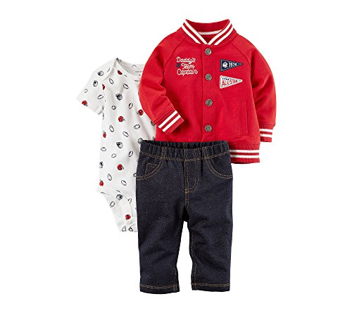 Carter's 3 teilig 68/74 Jacke Body Hose Baby Junge Outfit Kleidung 3 Teile US Size 9 Month Football