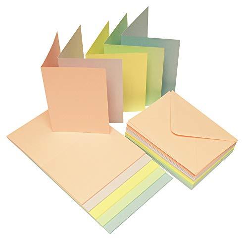 Craft UK Karte mit Umschlag Karten & Umschläge C6 pastellfarben