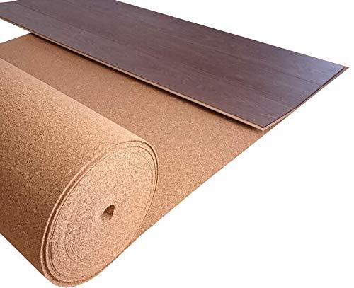 ökologische Trittschalldämmung TRECOR Rollenkork, Rollkork Unterlage - Stärke 2 mm - Dichte: 200 kg/m³ - 20 m² Rolle