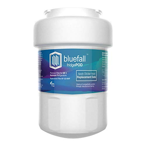 Compatible GE MWF Water Filter for GE refrigerator GE water filter MWF Replaces GE Smart Water Filter MWF Cartridge Refrigerator Water Filter by Bluefall.