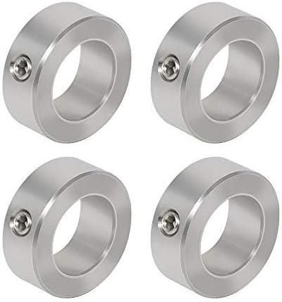"AZSSMUK 3/8"" Bore Stainless Steel Axle Shaft Collars w/Set Screw,4-Piece"