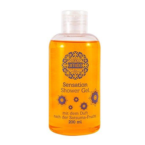 20x UMIDO Duschgel 200 ml Satsuma-Frucht | Waschgel für Körper, Gesicht und Haare | sanfte Pflegedusche | Körperpflege (11-B2B)