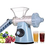 Manual Wheatgrass Juicer With Suction Cup Base & Desktop Clamp For Celery Kale Spinach Parsley Pomegranate Apple Grapes Fruit Vegetable (Color : C)