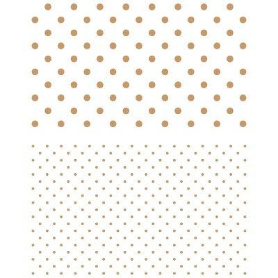 TODO STENCIL Deco Fondo 049 Topos y Topitos, Medidas: Stencil 20 x 30 cm - Diseño 18 x 25 cm