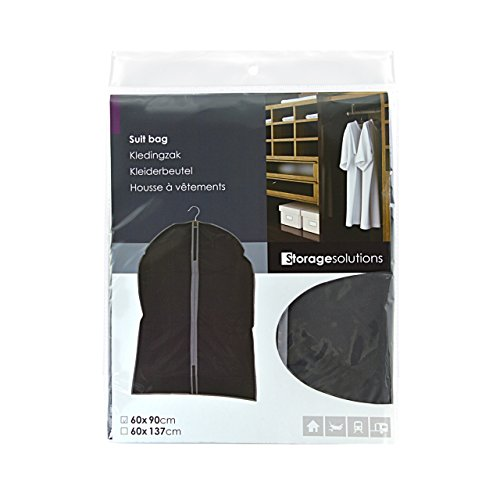ASIS nettrade kledinghoezen kledinghoezen - 3 stuks - 90 cm lang x 60 cm breed - kleur: zwart