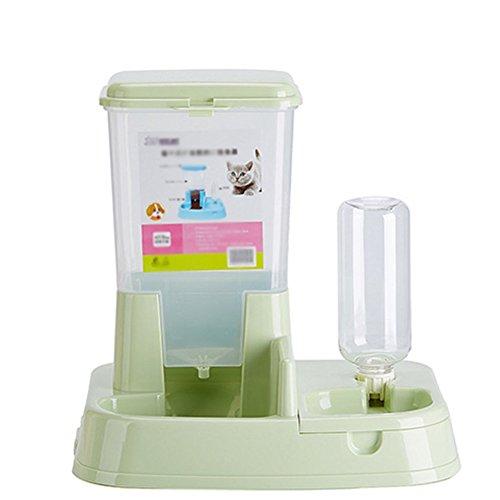 Scrox 1X 2 en 1 Dispensador automático de Alimentos para Perros y Gatos Combinación...