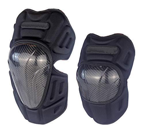 RICH BIT Ginocchiere e gomitiere in Fibra di Carbonio Set 4 Pezzi, equipaggiamento Protettivo per Motociclista, Ginocchiere per Moto, Tenere al Caldo in Inverno (Ginocchiere in 2 Pezzi)