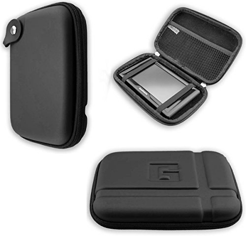 caseroxx GPS-Tasche für Garmin zümo© 396 LMT-S, (GPS-Tasche mit Reissverschluss und Gummizug in schwarz)