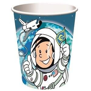 Astronaut Flo 8-teiliges Becher-Set Kindergeburtstag Kinder Geburtstag Feier Set Mottoparty Partygeschirr Deko Fest Party Motto Deko Weltraum Space Alien Raumschiff All Becher Pappbecher