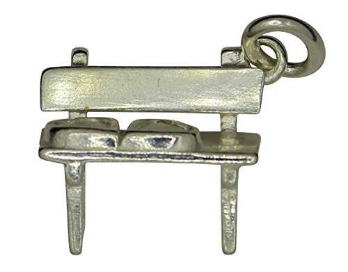 Morlock Silberanhänger Sitzbank mit Herz in 925er Sterling-Silber