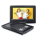 Tragbarer DVD Player für Auto, 9,5 Zoll Schwenkbarer Bildschirm, 5 Stunden Akku, Mobiler DVD...