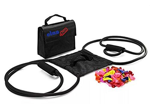 elna-fun Wasserbombenschleuder Black Edition bis zu 275m Reichweite incl. 150 Wasserbomben