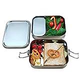 Yes Sir!® Lunch-Box aus Edelstahl   Mikrowellengeeignet, auslaufsicher und plastikfreie Brotdose für Schul-Kinder, Büro und Outdoor. Umweltfreundliche Essensbox, ohne BPA mit TÜV