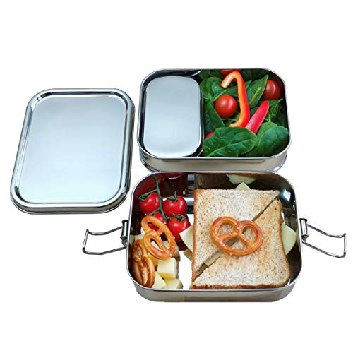 Yes Sir!® Lunch-Box aus Edelstahl | Mikrowellengeeignet, auslaufsicher und plastikfreie Brotdose für Schul-Kinder, Büro und Outdoor. Umweltfreundliche Essensbox, ohne BPA mit TÜV