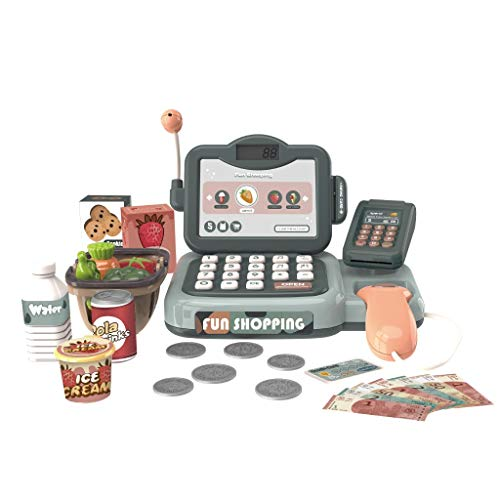 Fineday Intelligent Cash R-egister Toy with Voice R-ecognition and Calculator, Education Toys HotSales (Multicolor)