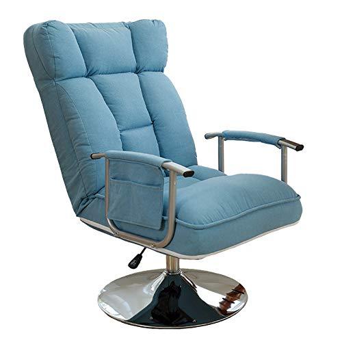 KLT Poltrona Pigra, Sedia da Ufficio Elegante, Poltrona Pigra Creativa, Divano Poltrona Personale, Sedia Girevole a 360 °, Comoda per Sedersi a Lungo, Lavabile