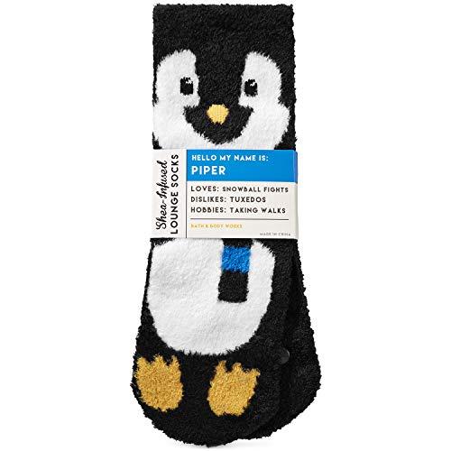 Bath & Body Works Shea Infused Lounge Socks Piper the Penguin