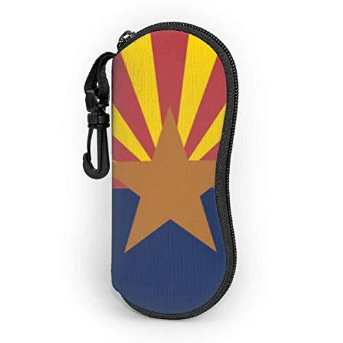 Sonnenbrille Brillenetui Arizona Tasche Kratzfest staubsichere Brillenbox mit Gürtelclip für Schlüssel, Bleistifte, Karten