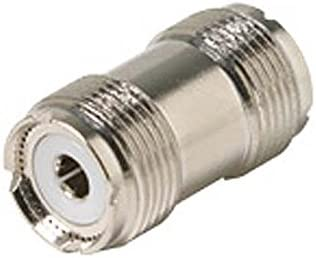 UHF Coupler Female to Female Inline Adapter Coaxial Connector Double UHF Female In-Line Jack to Jack Commercial Grade Nickel Plated with Delrin Insulator TV Antenna Satellite Components Plug