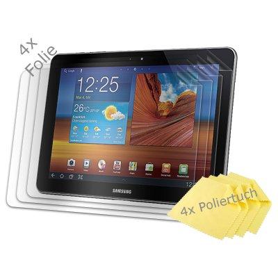 numia [4er Pack] Displayschutzfolie kompatibel mit Samsung Galaxy Tab 10.1N (P7500) Folie Galaxy Tab 10.1N Schutzfolie Klar