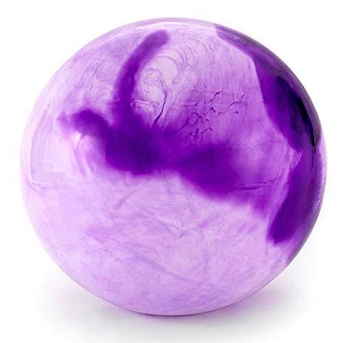 TUWEN Yoga,Mini Pilates Ball, Gymnastikball für Bauch-Beine-Po Übungen,Mit Pumpe,Wolke - lila-65cm