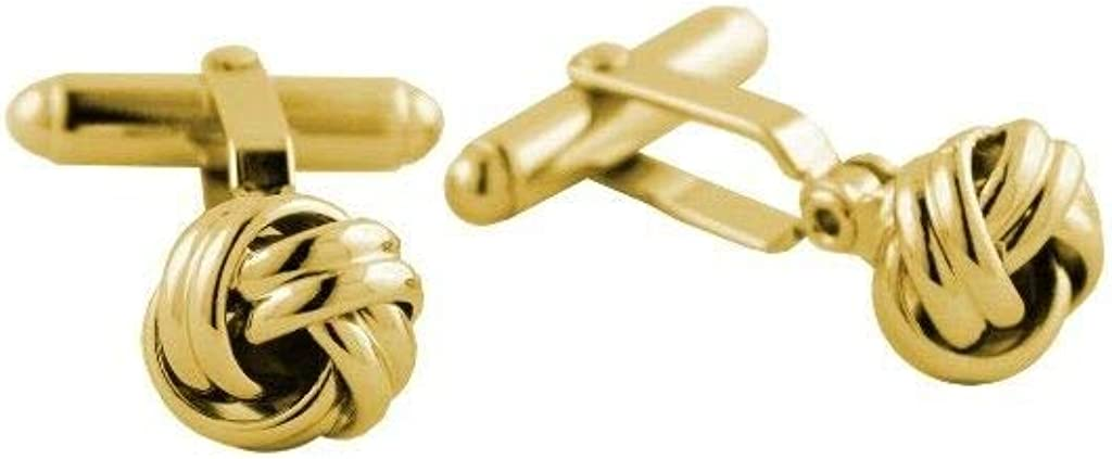 David Donahue Men's Metallic Sheen Gold Plated Brass Knot Cufflinks (CL170209)