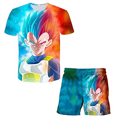 Bambini Dragon-Ball Maglietta Pantaloncini Set Ragazzi Maniche Corte 2pz Suit Ragazze 3D Cartone Animato Tshirt Sets Bambini Pyjamas Completo da Uomo