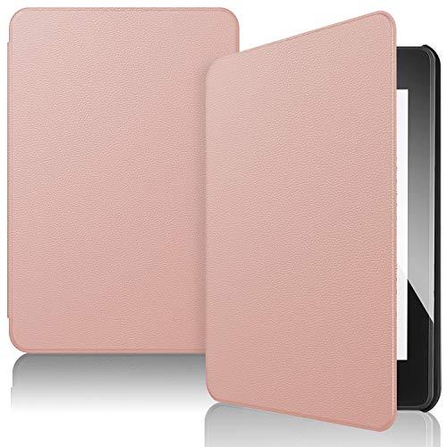 IVSO Funda Carcasa para Nuevo Kindle Paperwhite 2018, Slim PU Protectora Carcasa Cover para Amazon Kindle Paperwhite (10th Generation, 2018 Release), Oro Rosa