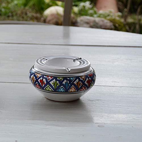 Yodeco - Cendrier marocain Bakir bleu - Moyen modèle