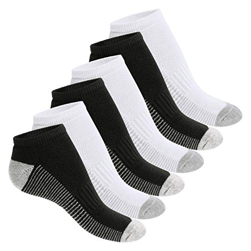 Footstar Damen und Herren Fitness Sneaker Socken (6 Paar) - Grau-Mix 35-38