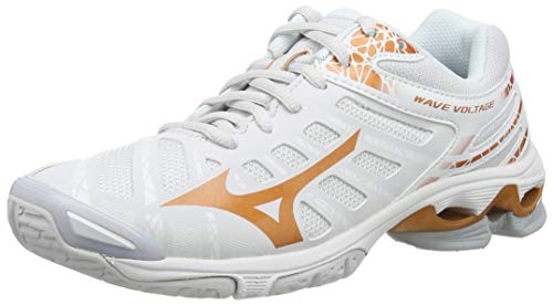 Mizuno Damen Wave Voltage Volleyballschuhe, Weiß (Nimbus Cloud/10135c/Wht 52), 38 EU
