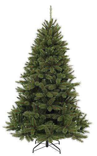 Künstlicher Weihnachtsbaum Bristlecone 120 cm PE/PVC-Mix Tannenbaum mit Hartnadel und Frosteffekt grün