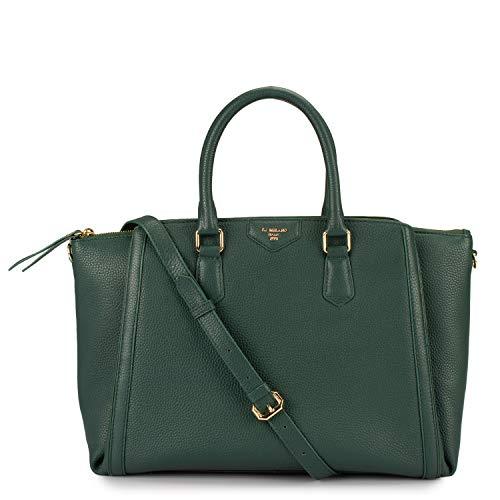 Da Milano Genuine Leather Green Ladies Computer bag