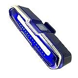 JVSISM Led Luz de Cola de Bicicleta Rojo y Azul USB Recargable Impermeable Súper Brillante Luz de Emergencia Multiusos