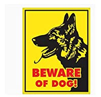 車 ステッカー 16Cm * 12Cm警告車のステッカー犬に注意ジャーマンシェパードカバースクラッチデカールラップトップオートバイ自動装飾Pvc、