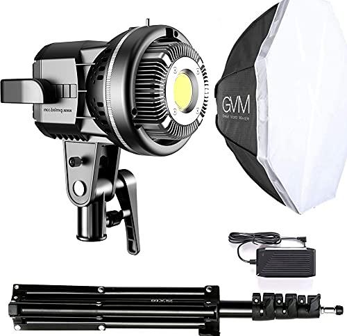 GVM LED Videoleuchte mit Softbox, LED Fotostudio Beleuchtung mit Stativ, CRI97+ 5600K Tageslicht Fotolicht LED Dauerlicht für Fotografie, Studio YouTube Videoaufnahmen Videolicht, fotografie licht led