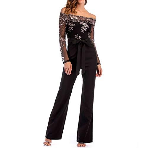 Homebaby Jumpsuit Donna Eleganti da Cerimonia Lunghe Magliette Spalla off Ragazza Estate Monopezzi E...