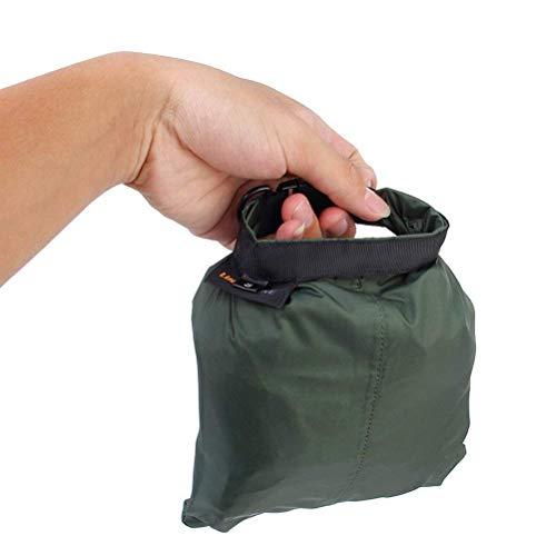 UEETEK 3 Stück / Set Wasserdichte Trockenbeutel,Ultra-light Nylon Packsacks für Camping Bootfahren Kajakfahren Rafting Angeln, ideal zum Speichern von Mobiltelefonen, Kamera, Schuhe, Armeegrün,(1,5 L + 2,5 L + 3,5 L) - 6