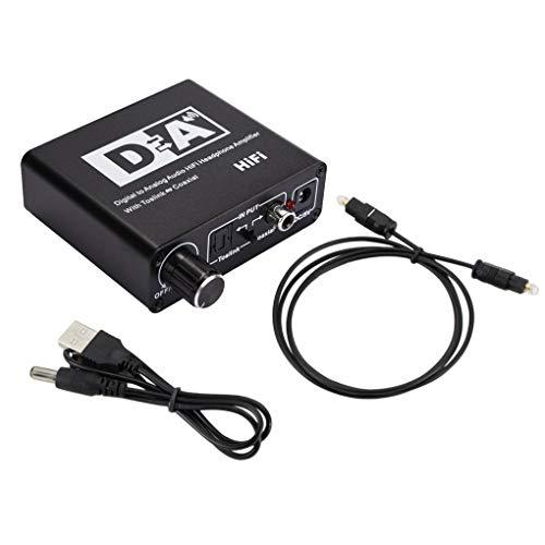 teng hong hui Digital a analógico O convertidor 3.5mm DAC Amplificador de Fibra de Fibra de Fibra de Fibra óptica señal coaxial al Adaptador DAC