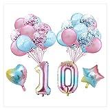 Jjwlkeji Esmalte de uñas en Gel 34 Piezas de 16 Pulgadas Set 70 80 90 Año Globo de la Hoja de Aluminio Gradiente cumpleaños - Globo Feliz Cumpleaños Old Party (Color : Camouflage)