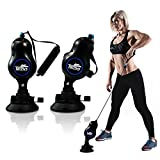 Resistance Bands with Handles, 2 Suction Cups Rope Trainer Exercise Training Bands Elastic Pull Rope 3 Gears Resistance Portable Home Gym Fitness Yoga Strength Training Physiotherapy for Men Women