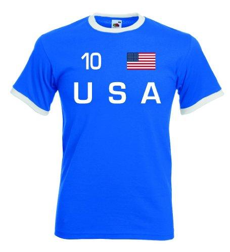 World-of-Shirt Herren T-Shirt USA Retro Shirt Nr.10 rb-l