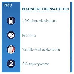 Oral-B PRO 2 2900 Black Edition Doppelpack Elektrische Zahnbürste mit visueller Andruckkontrolle für extra Zahnfleischschutz, schwarz