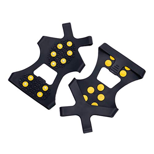 yotijar Pinzas de Tacos de Hielo de Acero Inoxidable Antideslizantes de 10 para Senderismo Pesca - S
