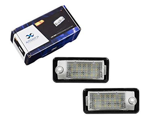 2 x Premium LED Kennzeichenbeleuchtung Q7 A4 S4 B6 B7 8E A6 S6 4F C6 A3 8P KB24