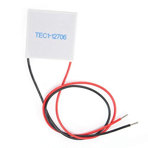 TEC1-12706 Tabletas de refrigeración electrónicas semiconductoras TEC1-12706 12V 6A Enfriador de disipador de calor Enfriador termoeléctrico Módulo de placa de enfriamiento de calefacción, 40x40 mm