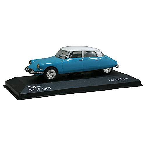 Citroen DS 19, hellblau/weiss, 1966, Modellauto, Fertigmodell, WhiteBox, 1:43