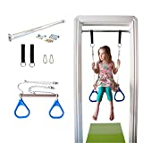 DreamGYM Doorway Swing for Kids Indoor - Trapeze Bar and Blue...
