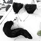 Aạult Tọy Handcuffs Faux Fur Animal Ears Headband Fluffy Long Tail Metal...
